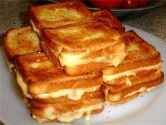 croque-monsieur (pain de mie + crème fraiche épaisse + jambon + emmenthal ou fromage fondu + beurre éventuellement)
