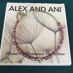 Alex and Ani Bracelet One of the prettiest Alex and Ani bracelets I have seen!  Silver band with purple beads Alex & Ani Jewelry Bracelets