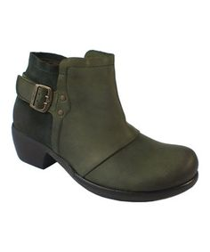 Loving this FLY London Green Molt Leather Ankle Boot on #zulily! #zulilyfinds