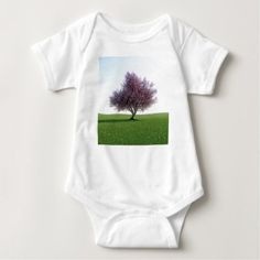 Sakura Cherry Tree in the Morning Baby Bodysuit - toddler youngster infant child kid gift idea design diy