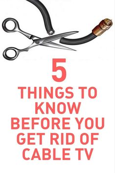 Cord Cutting Options 2018 What to Know Before You Get Rid of Cable TV. Learn everything you need to know about saving money and setting up a television without cable or satellite tv. Television Antenna, Cable Television, Technology Hacks, Digital Technology, Tv Options, Cable Options, Life Hacks Computer, Computer Tips, Computer Basics