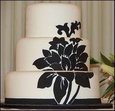 Černé a bílé svatební dort na dort Central