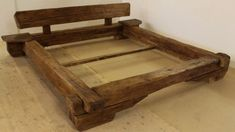 Beds - bed frame, old wood, rustic bed frame (PROBE . - a designer piece . Beds – bed frame, old wood, bed frame rustic (SONDE … – a unique product by Holzkompetenz on DaWanda Source by ki Woodworking Courses, Woodworking Plans, Log Furniture, Furniture Design, Cheap Furniture, Rustic Bedding, Wood Beds, Bed Frame, Interior Design
