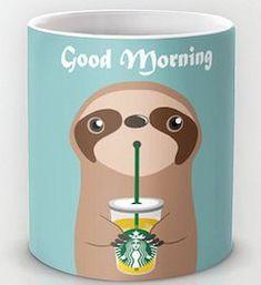 Good morning cute coffee mug