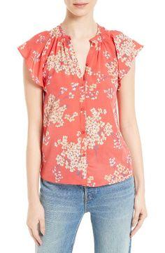 Rebecca Taylor Rebecca Taylor Phlox Silk Top available at #Nordstrom