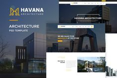 Havana : Architecture PSD Template by VictorThemesNX on Envato Elements - Modern Affordable Website Design, Custom Website Design, Website Design Company, Ecommerce Website Design, Web Ui Design, Types Of Architecture, Construction, Website Design Inspiration, Psd Templates