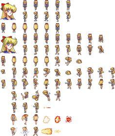 Sailor V sprites sheet by xuweisen on DeviantArt