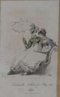 A green spencer and a short-sleeved mauve spencer. 1815