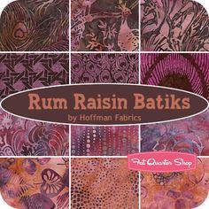 AUGUST 13---Rum Raisin Batiks Yardage Hoffman Fabrics - Fat Quarter Shop
