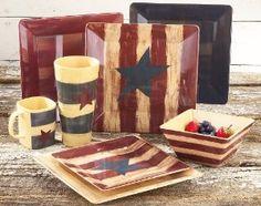 Americana Dinnerware   Amazon.com: 32 - Pc. Americana Dinnerware Set: Kitchen & Dining