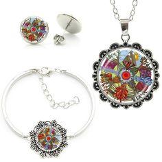 Tree of Life Om Mandala Jewelry Set