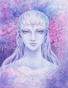 Free US Shipping   Moon Goddess  Magenta Purple by AuroraWings, $14.95