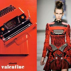 Olivetti Valentine col.rossa