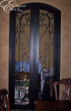 1000 Images About Wine Doors And Other Elegante Iron Interior Doors On Pinterest Wrought Iron