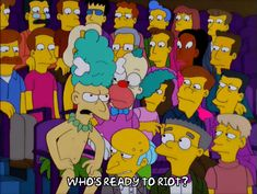 New party member! Tags: episode 2 season 12 mr. burns krusty the clown waylon smithers sideshow mel riot 12x02 incite a riot