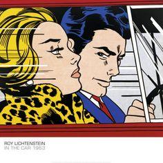 Roy Lichtenstein In The Car c1963