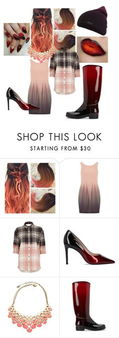 """""""Carnal Ombre"""" by dreadreas22 ❤ liked on Polyvore featuring Kardashian Kollection, River Island, Carvela, Amrita Singh and Neff"""