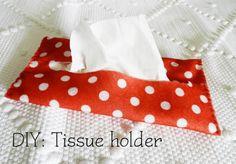 DIY  Tissue Holder  : DIY: Tissue holder for your bag!