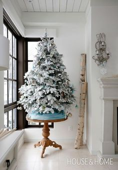 I LOVE this tree!! The size is perfect for a secondary Christmas tree and I love the flocking.