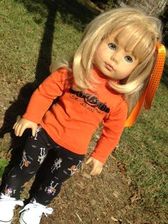 upcycled toddle shirt and leggings to fit doll.