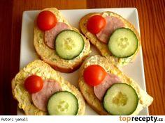 Pomazánka ze smažených vajíček Avocado Toast, Ham, Cucumber, Sushi, Food And Drink, Appetizers, Bread, Vegetables, Breakfast