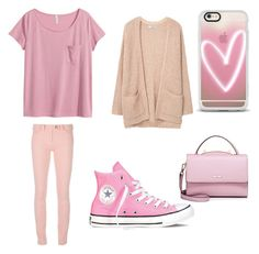 """Pink"" by jpchahal ❤ liked on Polyvore featuring MANGO, Balenciaga, Converse, WithChic, H&M and Casetify"