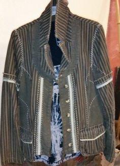 veste coton brodée