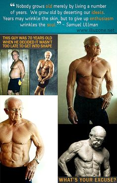 VISUAL   70 year old man decided it was time to get fit.