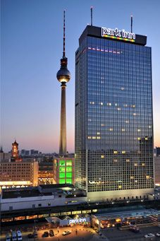 City lights at the Radisson Berlin Alexanderplatz, from Superbreak.com.  My, how this has changed...