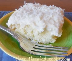 This Easy Sour Cream Coconut Cake is so good and keeps well in a cool place for several days.  I love coconut and can't leave this cake alone when I make it.  Great cake with coffee or as a dessert...