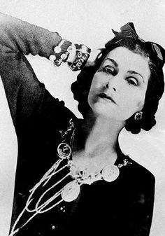 """STYLE QUOTE.    """"The best color in the whole world is the one that look good on you""""  Coco Chanel.  picture: 1934."""