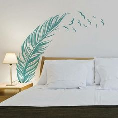 New Feather Wall Stickers Home Office Decor Removable Vinyl Mural Art Decal US ^ Reusable Wall Stickers, Wall Stickers Home, Bedroom Decor, Wall Decor, Home Office Decor, Home Decor, Wall Design, Decoration, Interior