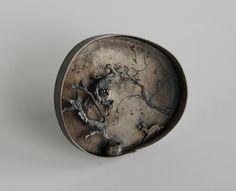 Nikolai Balabin.  Twilight 4, brooch, 2011, silver, patina, 55 mm