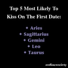 Aries: Top 5 Most Likely To Kiss On The First Date