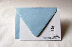Lighthouse Letterpress Notecards (Set of 8). $17.00, via Etsy.