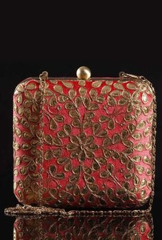 Gota Patti Embroidery Clutch Bag - #Bags & #Clutches for Every…