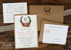 Kraft Paper Wedding Invitation