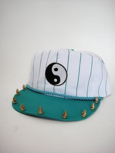 Vintage 90s Yin Yang Patch Spiked Snapback by totalrecallvintage, $28.00