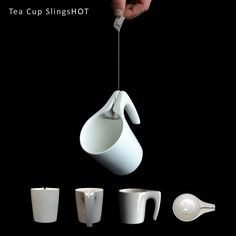 The Tea Cup SlingsHOT by Samir Sufi solves both those problems at once. It has a little funnel for you to squeeze every last drop of tea out...