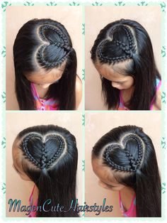 Baby Girl Hairstyles, Braided Hairstyles, Cool Hairstyles, Baby Hair Cut Style, Cool Hair Designs, Girl Hair Dos, Lace Braid, Hair Creations, Braids For Black Hair