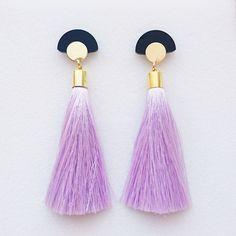 Image of GLORIA TASSELS Earrings<br>Lavender