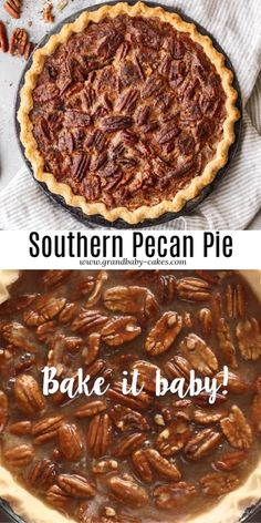 This Southern Pecan Pie recipe is the best pie that you can prepare in no time. Nutty, sweet and oh so buttery with, this pie was made to be on your holiday table! #pecanpie #pie #pierecipe #thanksgiving