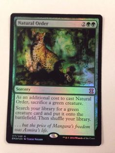 Magic the Gathering: Foil Natural Order from the set Eternal Masters NM/M #WizardsoftheCoast #mtg