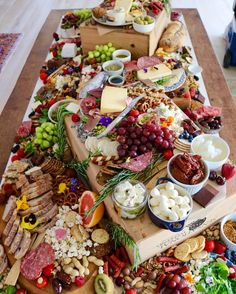 Beautiful and interesting cheese and meat buffet. Plan events with www.plan4event.com
