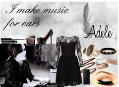 """Music & Adele"" by nindyahkinasih on Polyvore"