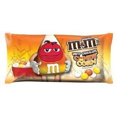 I'm usually a peanut M&M's girl, but this white chocolate candy corn flavor is amazing.