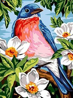 Poster Color Painting, Dot Art Painting, Acrylic Painting Canvas, Watercolor Art, Bird Paintings On Canvas, Animal Paintings, Modern Canvas Art, Modern Art Paintings, Pop Art