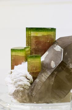Tourmaline & Smoky Quartz / Mineral Friends <3
