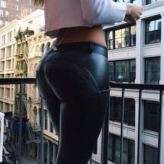 Eco-Leather Tush Trainer™ Push up Pants