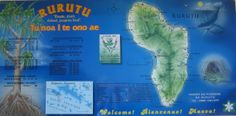 Map or Rurutu in the #islands of #Tahiti in French Polynesia